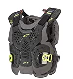 Alpinestars unisex-adult A-1 Plus Chest Protector Blk/Anth/Fluo Ylw Md/Lg (Multi, one_size)