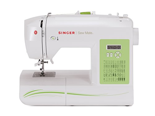 SINGER   Sew Mate 5400 Handy Sewing Machine Including 60 Built-in Stitches, 4 Fully Built-in 1-Step Buttonhole, Automatic Needle Threader & Automatic Tension, Help to get Started in No time