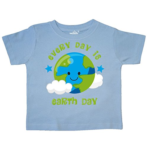 inktastic Every Day Earth Day Toddler T-Shirt 4T Light Blue 2f3d5 Change Kids Light T-shirt