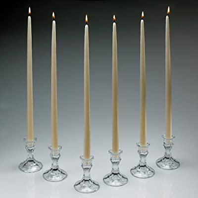 Ivory Taper Candles 18 Inch Tall Set of 12