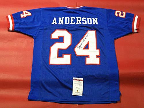 - OTTIS ANDERSON AUTOGRAPHED NEW YORK GIANTS JERSEY JSA SB XXV MVP INSC