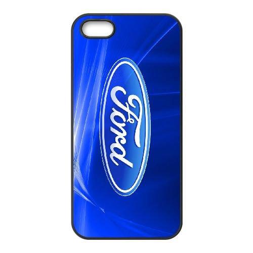 Ford 005 coque iPhone 5 5S cellulaire cas coque de téléphone cas téléphone cellulaire noir couvercle EOKXLLNCD23738