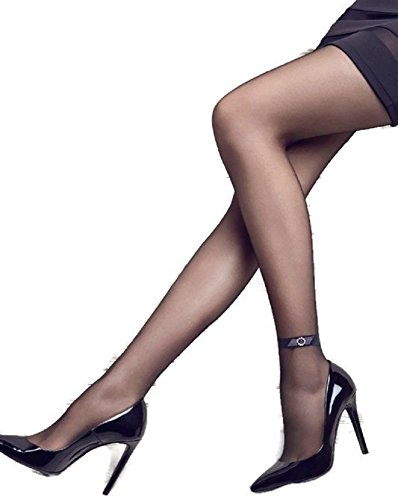 a5262998e Patrizia Gucci designed for Marilyn Fashion Tights w Diamond Ankle Band    Lace (M L