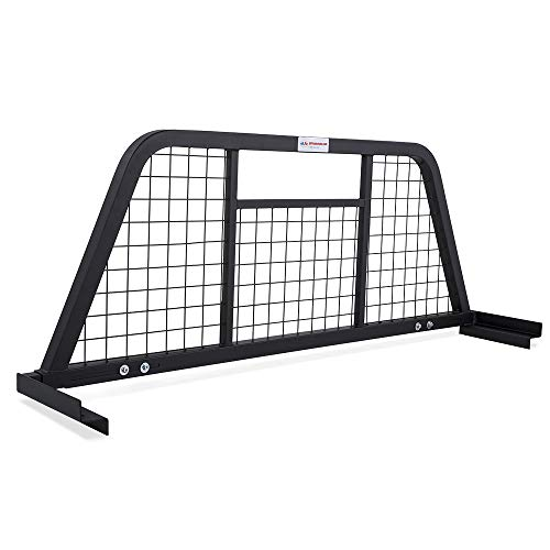 AA-Racks Model HX-501 Extendable Steel Pickup Truck Headache Rack, Sandy Black ()
