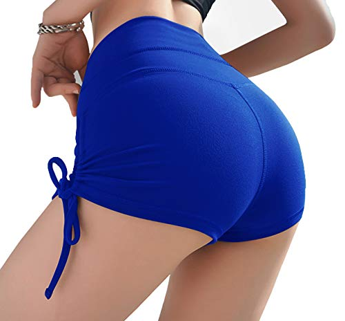 Kipro Women's Sexy Breathable Unlined Non See-Through Beach Booty Shorts Blue