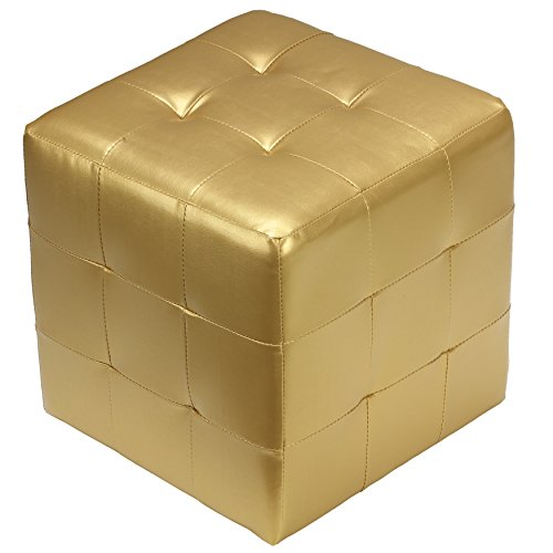 Cortesi Home Apollo Cube Ottoman, Metallic Gold Review