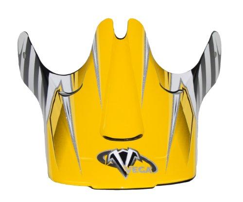 Vega Viper Junior Off-Road Helmet Visor with Kraze Graphic (Yellow)