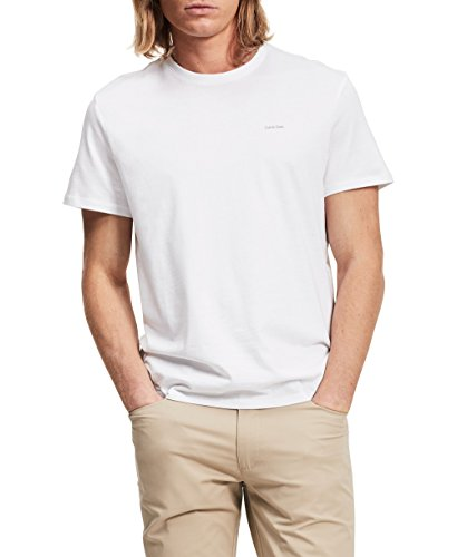 Calvin Klein Men's Short Sleeve Pima Cotton T-Shirt, White ZK, X-Small