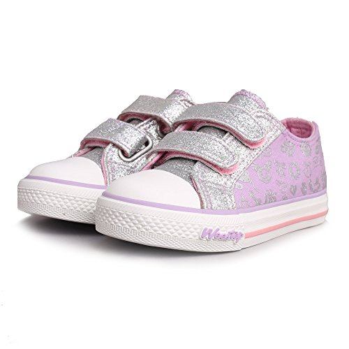 Weestep Toddler/Little Kid Glitter Double Strap Pink Sneaker (6 M US Toddler, Purple) for $<!--$21.99-->