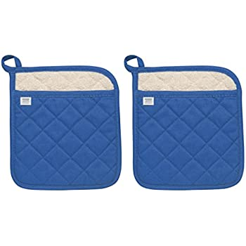 Now Designs Superior Potholders, Set of Two, Royal Blue
