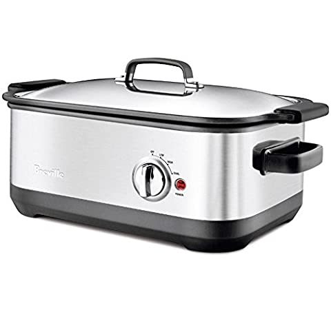 Breville BSC560XL Stainless-Steel 7-Quart Slow Cooker with EasySear Insert