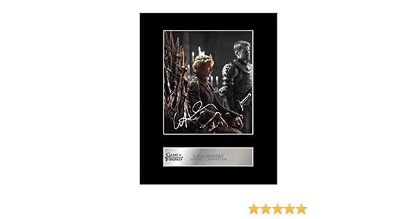 Lena Headey firmada foto enmarcada Cersei Lannister/ /Juego de Tronos