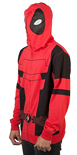 Marvel Deadpool Costume (Marvel Deadpool Mens Cosplay Costume Hoodie (Medium))