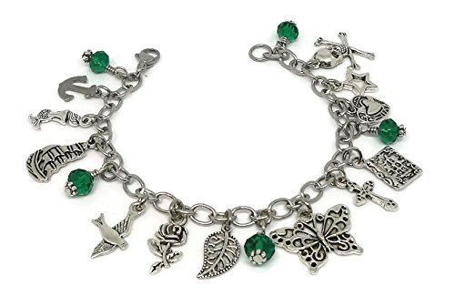Harry Styles Tattoo inspired Charm Bracelet - One direction themed Jewelry - 1D Gift