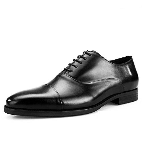 Mens Leder Sehnen Und Freizeit Schuhe Kleid Herbst Business Hochzeit Mode Rutschen Schwarzbraun C