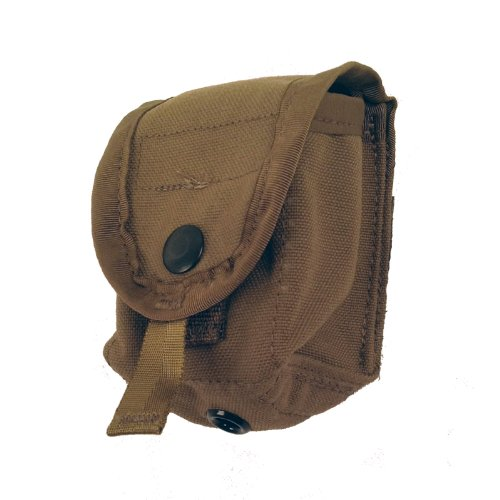 US Military MOLLE II Single Hand Grenade Tactical Pouch, Coyote ()