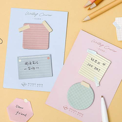 Office Decoration Sticky Notes - 4Pcs Writing Courier Color Memo Pad Creative Post Text Sticky Notes Marker It Label Planner Agenda Office School Supplies A6469 1 Pcs