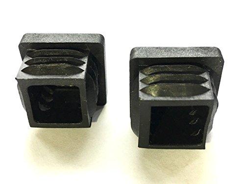 20 tapones dimensiones exteriores 20x15mm para tubos cuadrados negros
