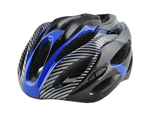 Bicycle Safety Cycling Helmet Bike Head Protect Carbon Fiber Scaffolds Helmets (Blue)
