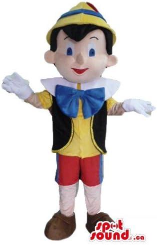 SpotSound Disfraz de Pinocho con Pajarita Azul de la Mascota de la ...