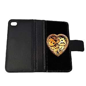 Steampunk Heart Locket - iPhone 6 Wallet Case