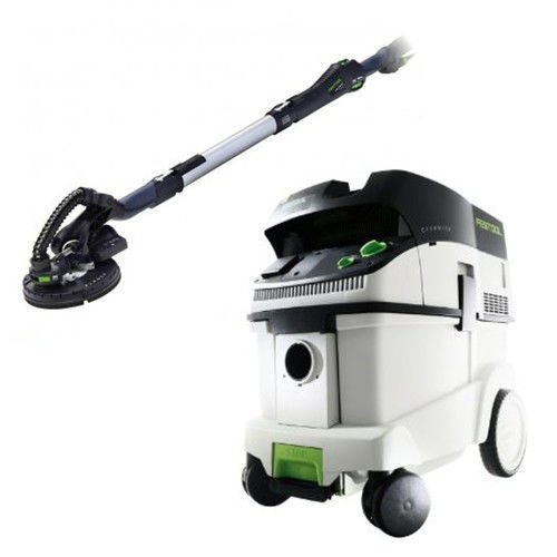 Festool P36571579 Planex Drywall Sander with CT 36 E 9.5 Gallon HEPA Dust Extractor by Festool