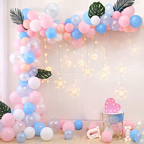 Kwayi Balloon Garland Kit, 16Ft Balloon Decoration Strip With 110PCS Classified Latex Balloons, Decoration Strip, Glue Dots, Ribbons For Birthday Party Baby Shower Wedding Bachelorette Party Decoration