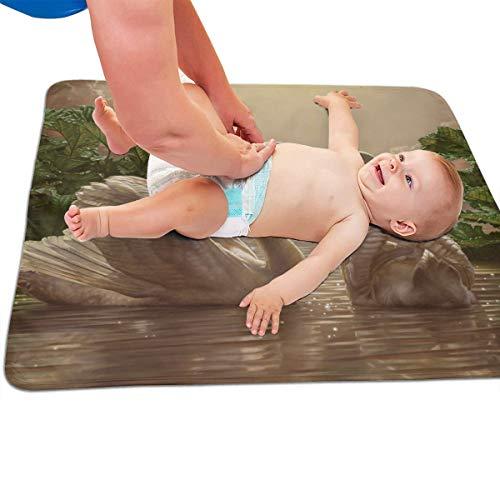 V5DGFJH.B Baby Portable Diaper Changing Pad Lake Swan Urinary Pad Baby Changing Mat 31.5