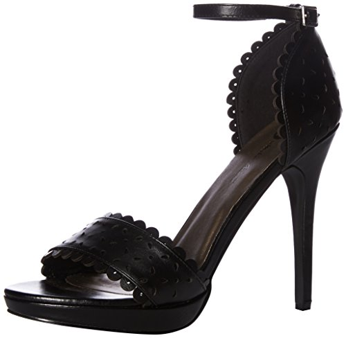 Michael Antonio Women's RAE Heeled Sandal, Black, 8.5 M US