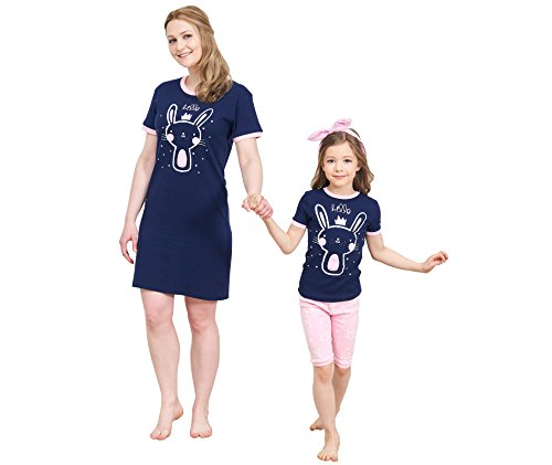 IF Family Matching Family Pajamas Rabbit Pattern Mommy & Me Matching PJS Summer Clothing Shirts by IF Family