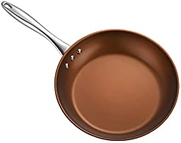 Ozeri 8-Inch Stainless Steel Pan with ETERNA, a PFOA and APEO-Free Non-Stick Coating