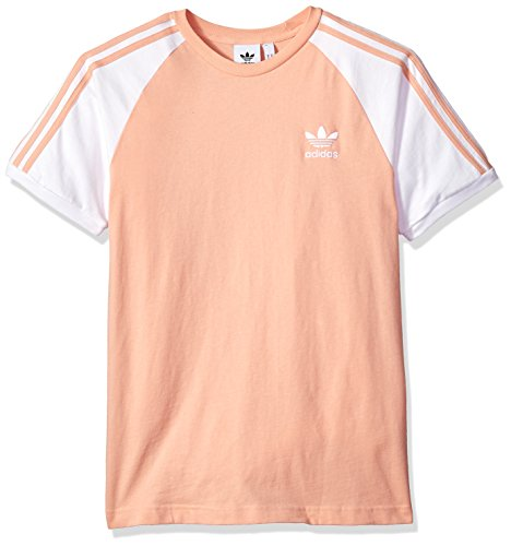 adidas Mens Originals 3 Stripes Tee, Dust Pink, L