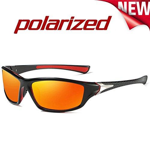 Polarisées Mode Rouge Femme Classique soleil 120 Sport Lunettes JULI de Homme UV400 qCd4E