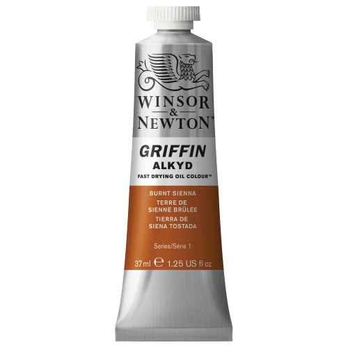 Winsor & Newton Griffin Alkyd Fast Drying Oil Colour Paint, 37ml tube, Burnt Sienna