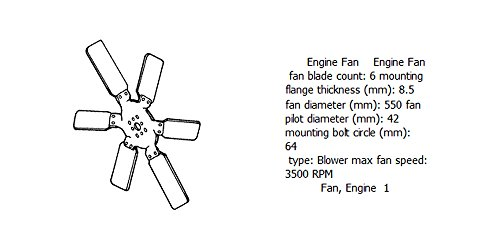 Engine fan 4931786 for diesel engine: