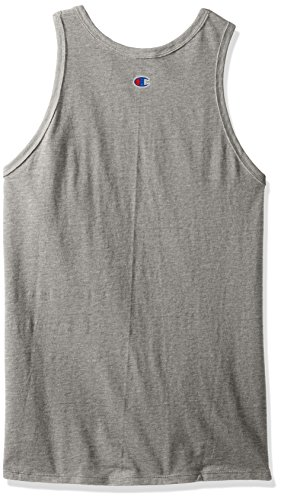 Champion Men's Classic Jersey Ringer Tank Top, Oxford Gray, 2XL by Champion (Image #2)