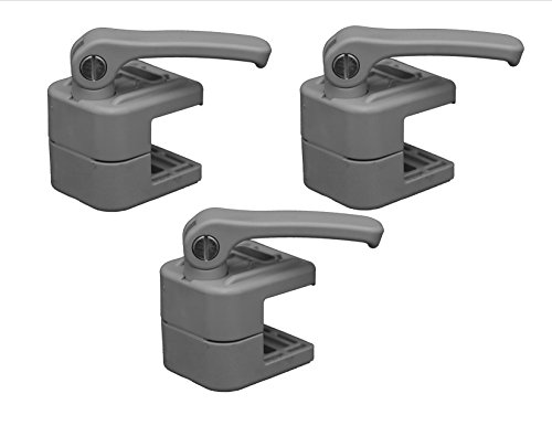 Koala Clamp 3 Pack: The Non-marring, Locking accessory clamp for Pontoon Boats: Thousands of uses! Rail Mount Fender Line Clip