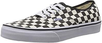 Vans Unisex Authentic (Golden Coast) Black/White Checkerboard Skate Shoe 5 Men US / 6.5 Women US