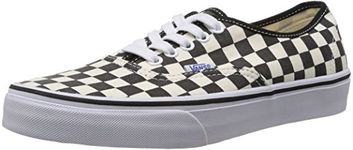 Noir AUTHENTIC Checker Black White unisex VSCQ80J Sneaker U adulto Vans Black Taqv40w5x