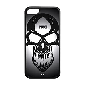 5C Phone Cases, Cool Skull Hard TPU Rubber Cover Case for iPhone 5C