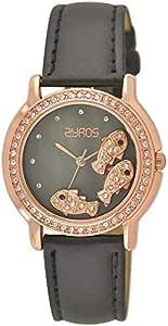 ساعة نساء من زايروس, جلد, انالوج بعقارب, 15J155F100251W