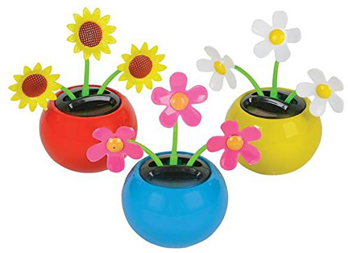 3'''' Mini solar powered flower pot toy novelty Case Pack 72 , Kid ,Toy , Hobbie , Nice Gift