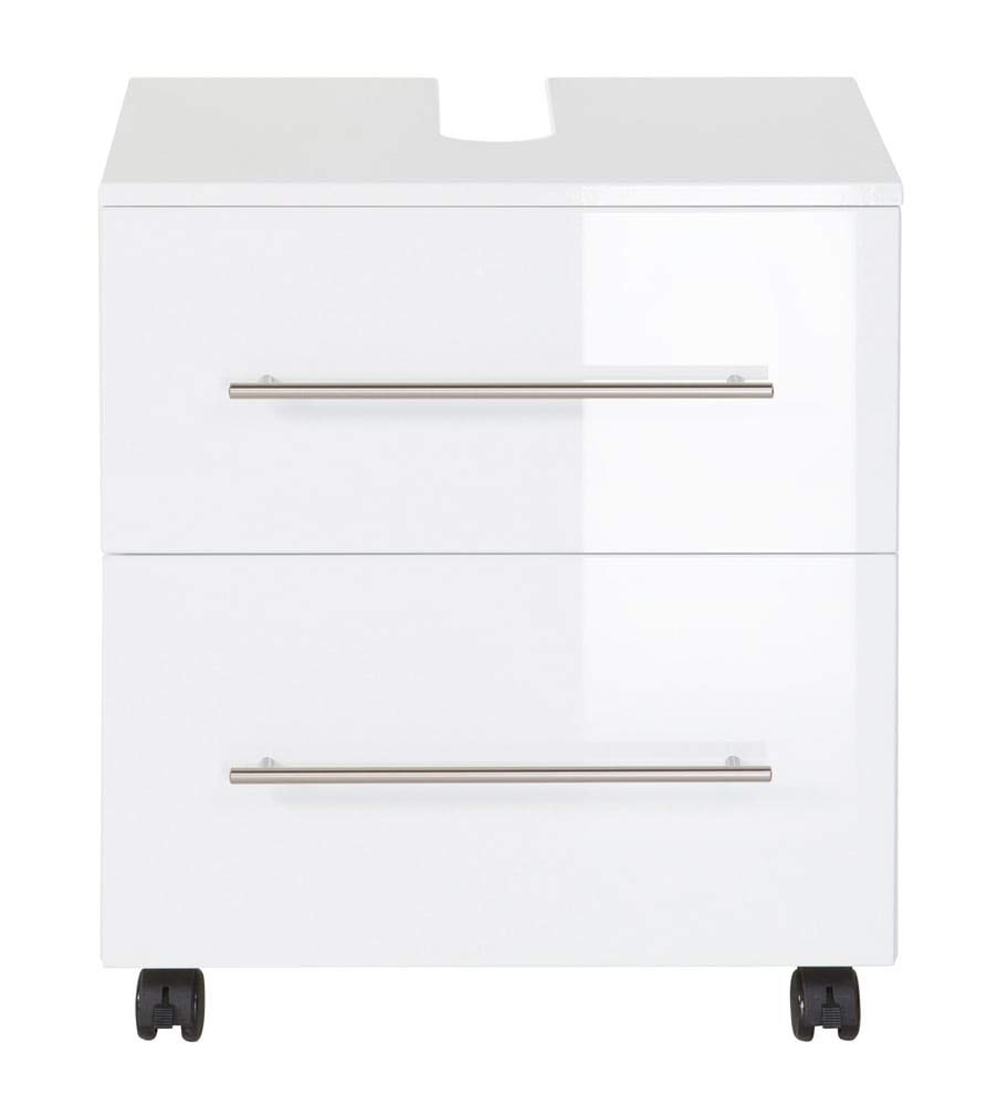 Emotion Universal 55 cm Bathroom Furniture on Casters White High-Gloss