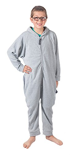 Forever Lazy Kids Onesie - Asleep on The Job Gray - XS