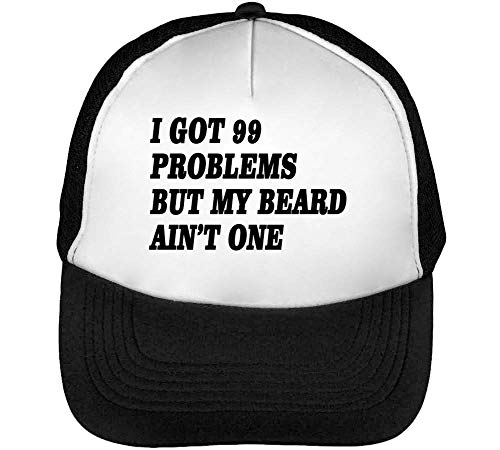 One My I Gorras Blanco Beisbol Snapback Hombre But Problems Got Ain'T Beard 99 Negro Slogan wqqaIp0