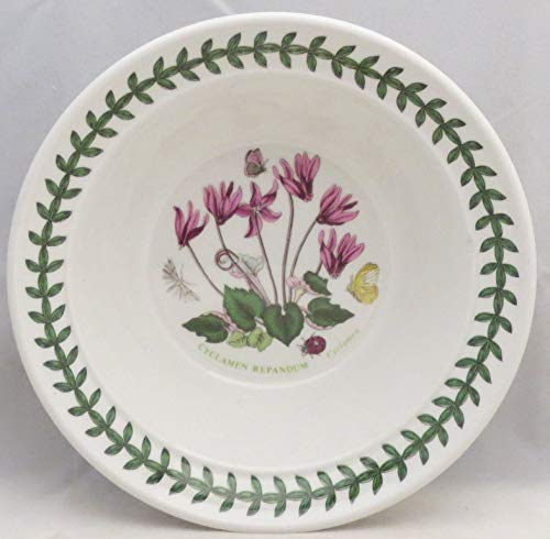 Portmeirion Botanic Garden Rim Cereal/Oatmeal Bowl (Cyclamen)