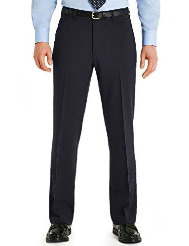 Hommes Farah Podarge Poche Formelle Pantalon Smart Bleu 97cm x 79cm