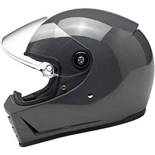 Biltwell Lane Splitter Helmet - Gloss Storm Grey - Large