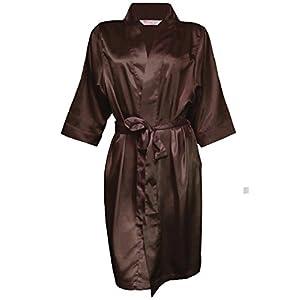 Zynotti Womens Choc Satin Blank Robe 3X/4 X 28-32