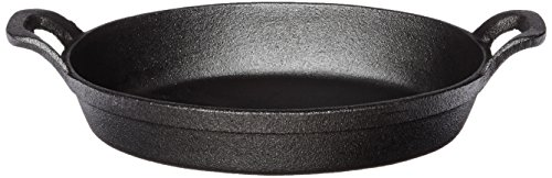 American Metalcraft CIPOV9567 Cast Iron Oval Casserole Pan with Handles, 12